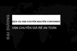dịch vụ vận chuyển nguyên container